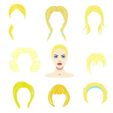 Hair styles collection vector Illustration