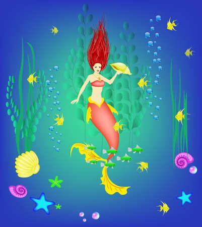 Underwater. vector illustration
