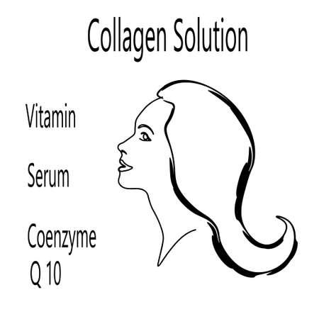 Vector logo collagen solution