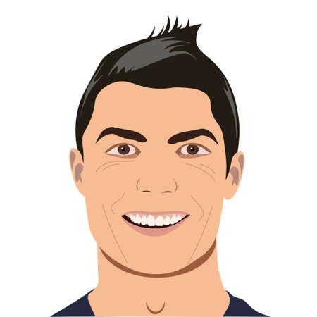 Vector Man portrait for avatars, vector illustration