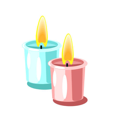 Candles vector flat icon isolated on the white background Imagens