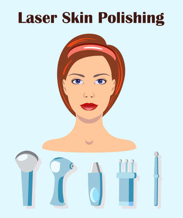 A vector set isolated of lasers for skin polishing
