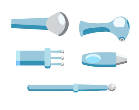 A vector set of lasers for different aims, illustration for scientific and medical sites Imagens