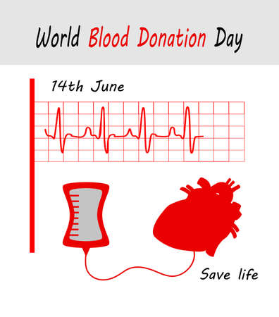 Vector Illustration for 14th June, blood donor day Vectores
