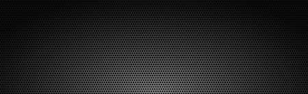 Black perforated background with black holes and glow