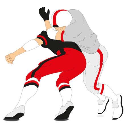 American football player on a white background - Vector illustration Ilustração