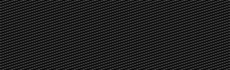 Panoramic texture of black and gray carbon fiber - Vector illustration