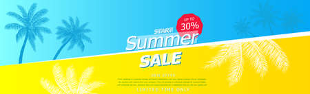 Advertising panorama for your company's summer promotional materials - illustration  イラスト・ベクター素材