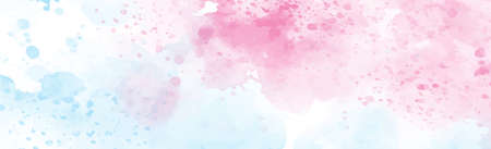 Panoramic texture of realistic red watercolor on a white background - Vector illustration