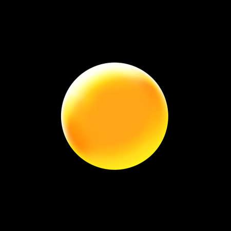 Bright blinding sun on a black background - Illustration