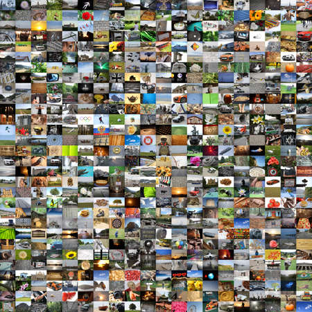 Collage of many different photos - 600 pcs photo
