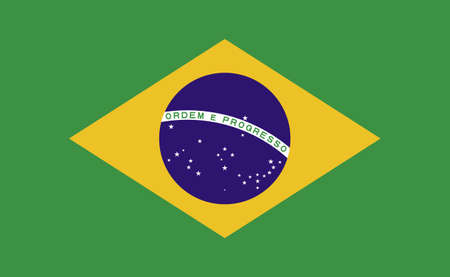 Brazil national flag in exact proportions - Vector illustration
