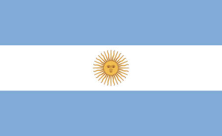 Argentina national flag in exact proportions illustration Illustration