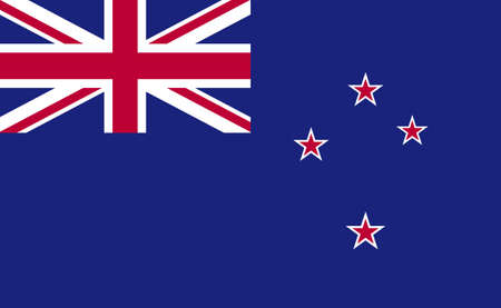 New Zealand national flag in exact proportions - Vector illustration