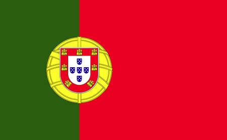 Portugal national flag in exact proportions - Vector illustration Illustration