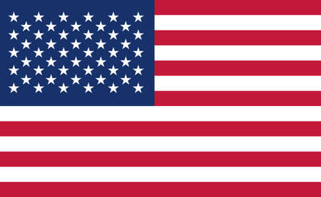 USA national flag in exact proportions - Vector illustration