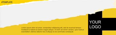 Web template for personal or advertising articles design - Vector illustration Ilustração