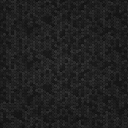 Panoramic texture of black and gray carbon fiber -illustration Stock Illustratie