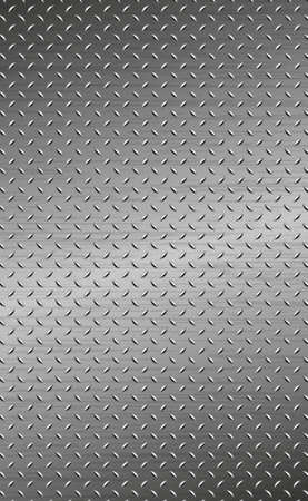 Texture panorama of silver metal with reflection - background Vecteurs