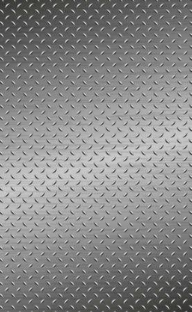 Texture panorama of silver metal with reflection - background Ilustración de vector
