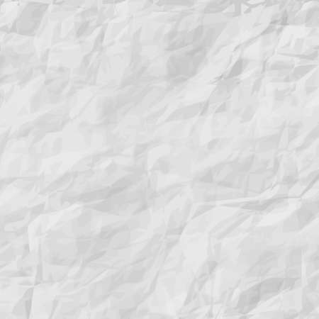 Crumpled white paper with many different bends - illustration
