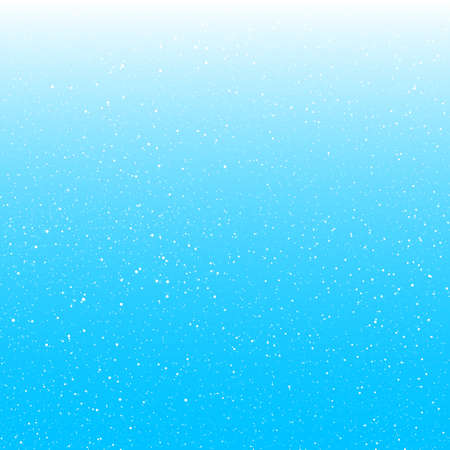 Delicate sky background with falling snowflakes