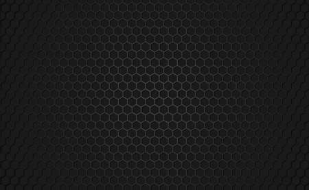 Panoramic texture of black and gray carbon fiber - illustration