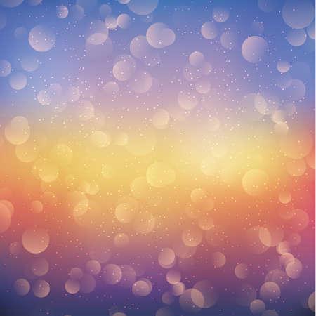 Multicolored blurry bokeh on a dark background - Panorama 矢量图像