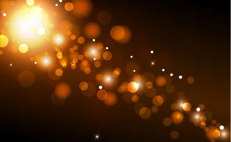 Bright bokeh with highlights on a dark background - Illustration Vector Illustratie