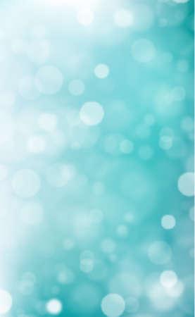 White blurred bokeh on blue background - Vector illustration