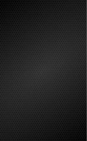 Panoramic texture of black and gray carbon fiber - illustration Vecteurs