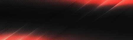 Black and gray carbon fiber texture with red lighting - illustration Stock Illustratie