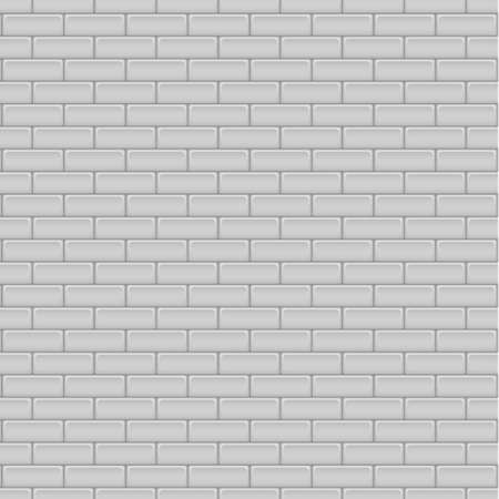 Realistic white and gray brick wall - Vector illustration Vettoriali