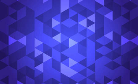 Abstraction blue background many small multicolored triangles - illustration Vektorové ilustrace