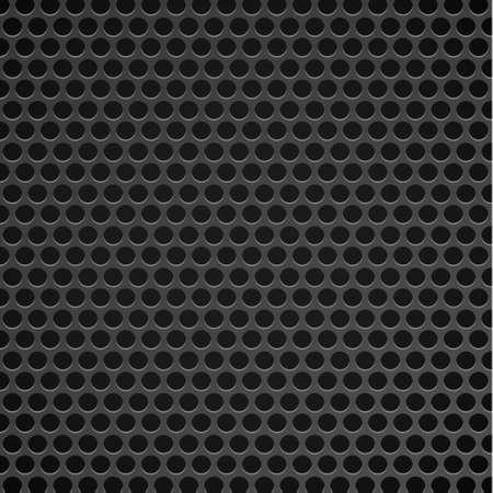 Black perforated background with black holes and glow - Illustration Vektorgrafik
