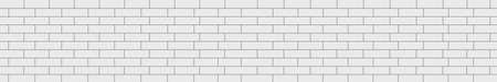 Realistic wall background, new white brickwork - Vector illustration