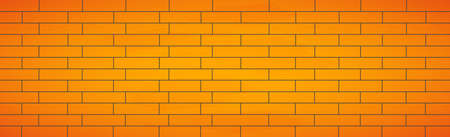 Realistic background wall, new yellow brickwork - Vector illustration