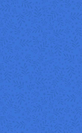 Abstract floral ornament from elements on a blue background - Vector illustration 向量圖像