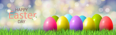 Congratulations on Orthodox Easter, bokeh background - Vector illustration 向量圖像