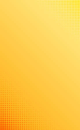 Yellow-orange abstract background with dots dots - Vector illustration