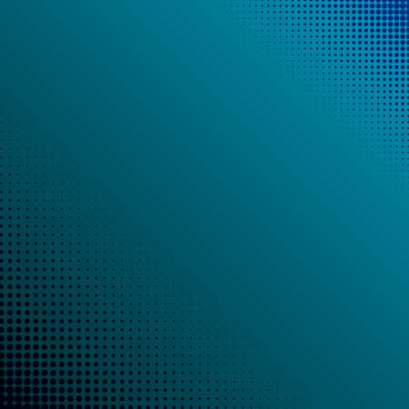 Blue gradient abstract background with dots points - Vector illustration