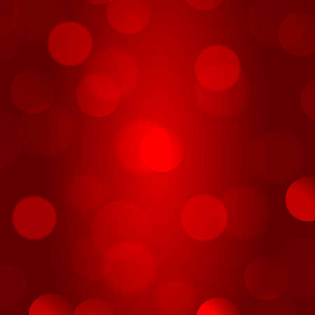 Abstract multicolored blurred bokeh on red background - Vector illustration