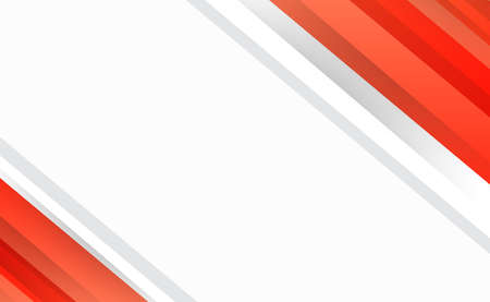 Abstract red-orange lines on white background - Vector illustration