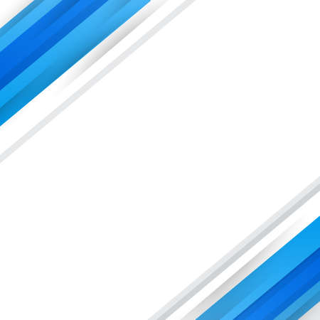 Abstract blue lines on white background - Vector illustration 向量圖像