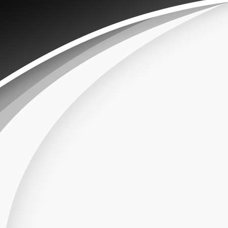 Abstract web template black and gray lines on white background - Vector illustration