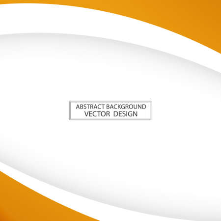 Abstract web template orange lines on white background - Vector illustration 向量圖像