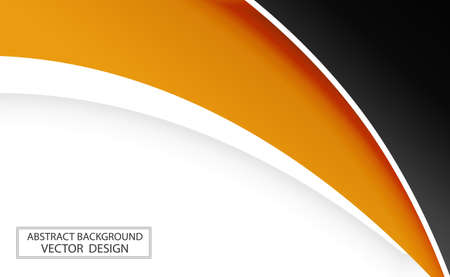 Abstract web template black and orange lines on white background - Vector illustration