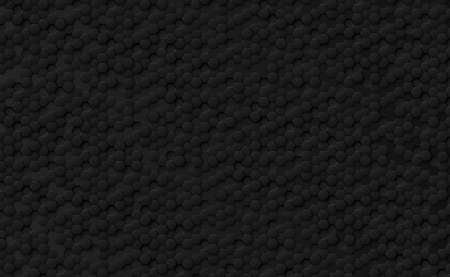 Abstract hexagons black on a black and gray background - illustration 版權商用圖片