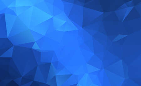 Abstract panoramic background with blue triangles - Vector illustration