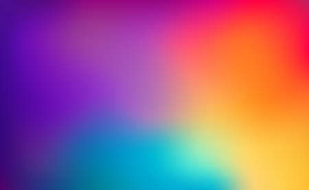 Blurred large panoramic summer background multicolored gradient - illustration 向量圖像